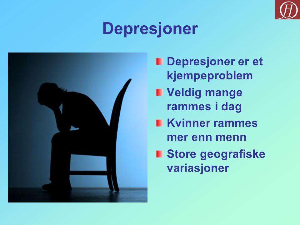Depresjoner Depresjoner er et kjempeproblem Veldig mange rammes i dag