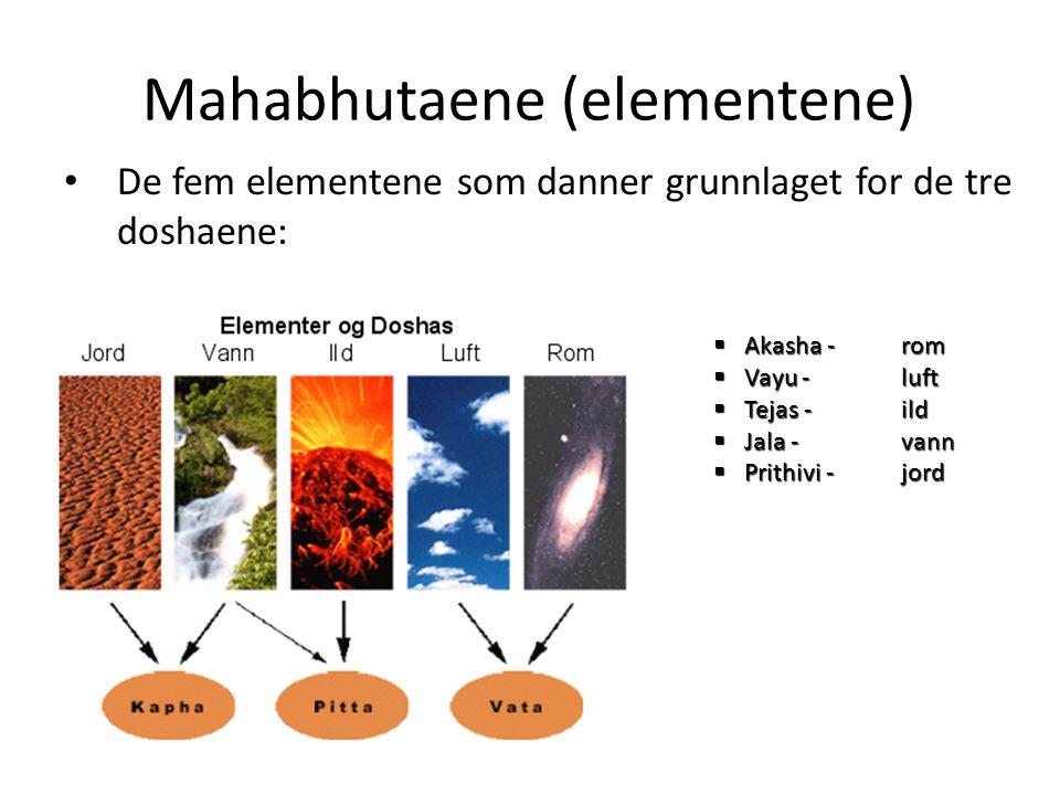 Mahabhutaene (elementene)