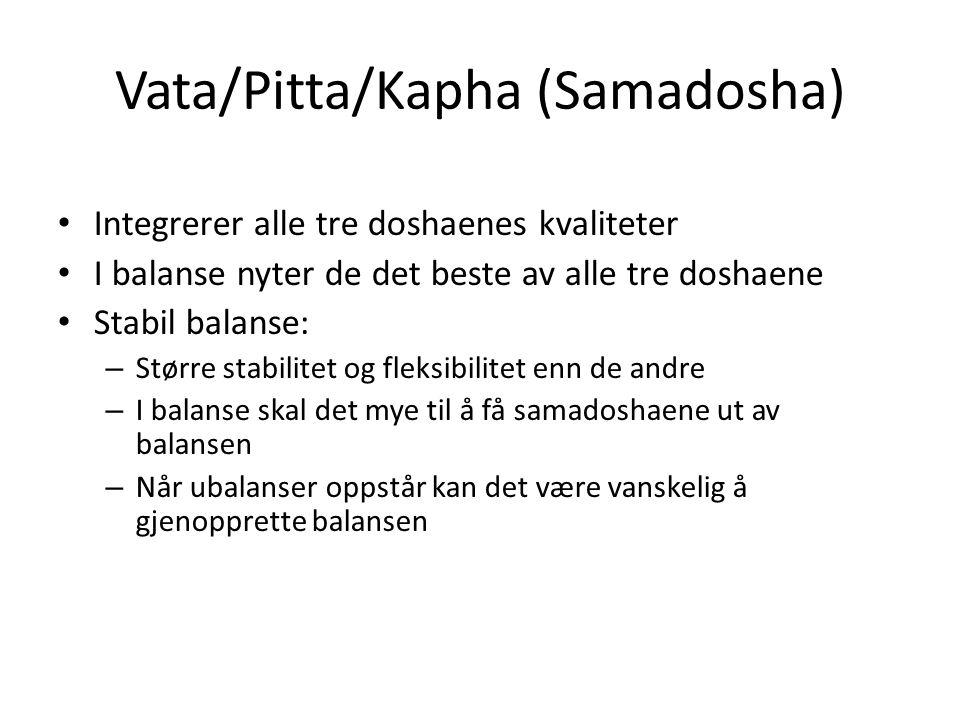 Vata/Pitta/Kapha (Samadosha)