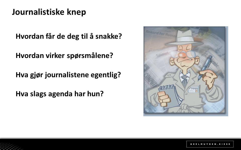 Journalistiske knep Hvordan får de deg til å snakke