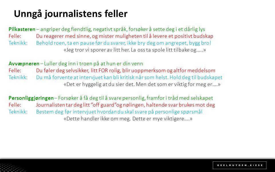 Unngå journalistens feller