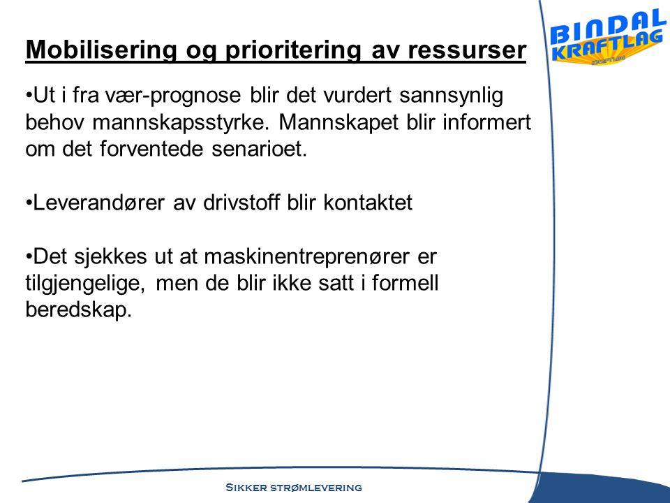 Mobilisering og prioritering av ressurser