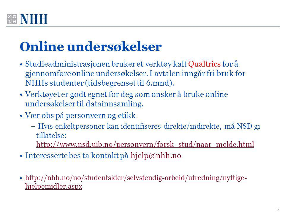 Online undersøkelser