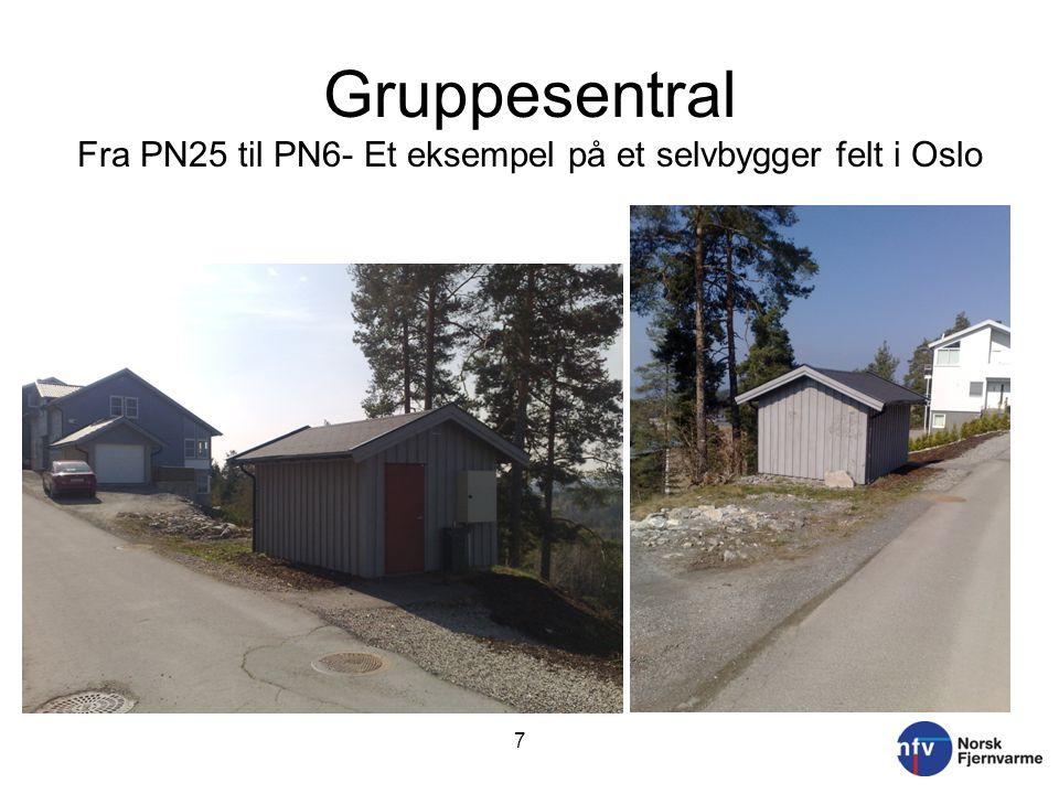 Gruppesentral Fra PN25 til PN6- Et eksempel på et selvbygger felt i Oslo