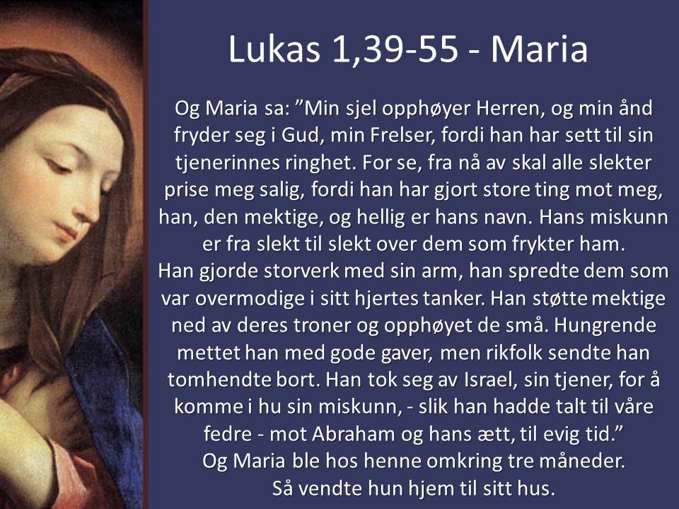 Lukas 1,39-55 - Maria