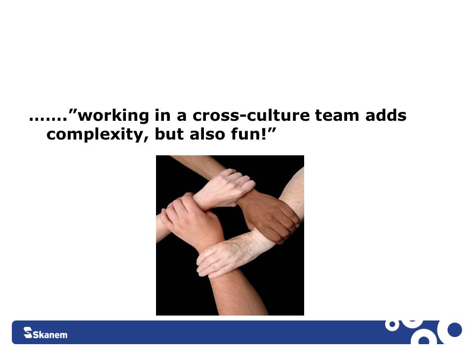 ……. working in a cross-culture team adds complexity, but also fun!