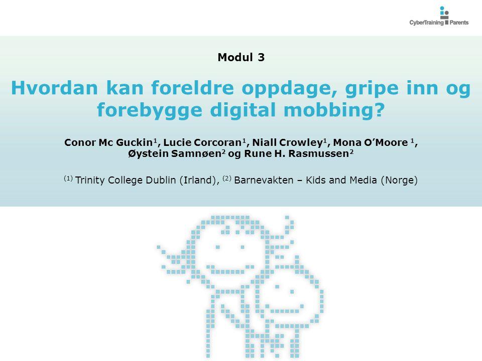 Hvordan kan foreldre oppdage, gripe inn og forebygge digital mobbing