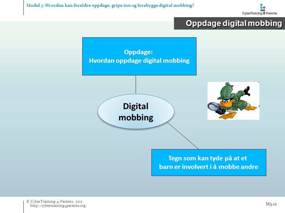 Digital mobbing Oppdage digital mobbing Oppdage: