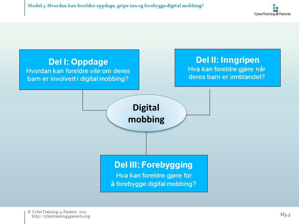Digital mobbing Del II: Inngripen Del I: Oppdage Del III: Forebygging