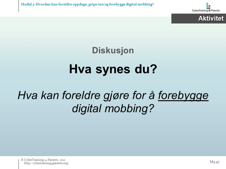 Hva kan foreldre gjøre for å forebygge digital mobbing