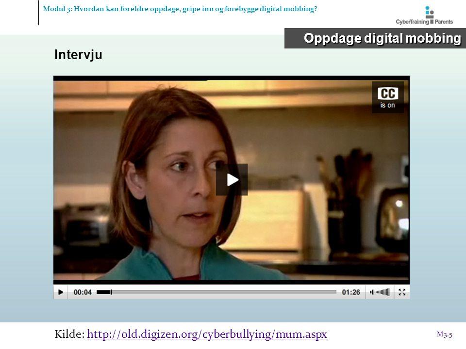 Oppdage digital mobbing Intervju
