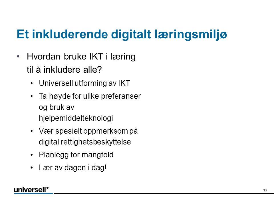 Et inkluderende digitalt læringsmiljø