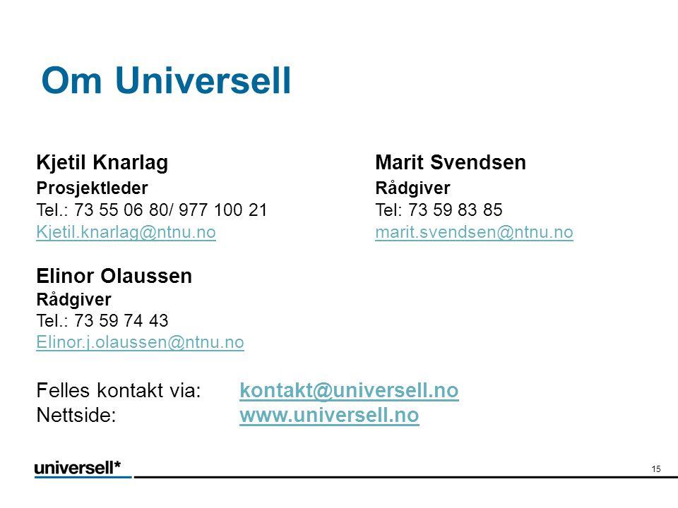 Om Universell Kjetil Knarlag Marit Svendsen Elinor Olaussen