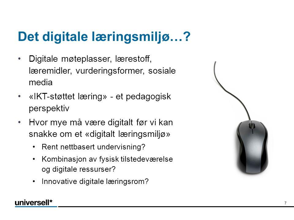 Det digitale læringsmiljø…