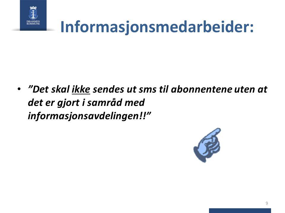 Informasjonsmedarbeider: