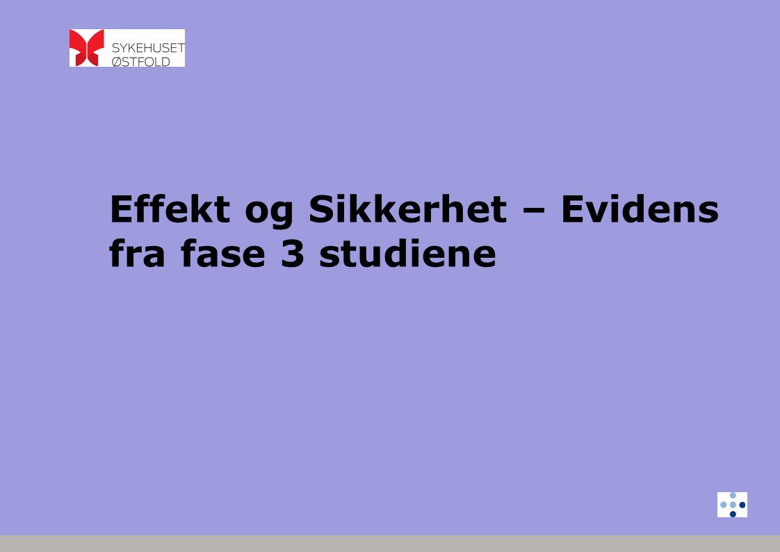 Effekt og Sikkerhet – Evidens fra fase 3 studiene