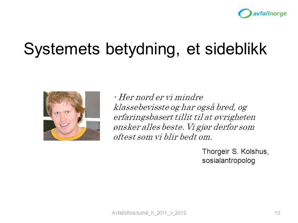 Systemets betydning, et sideblikk