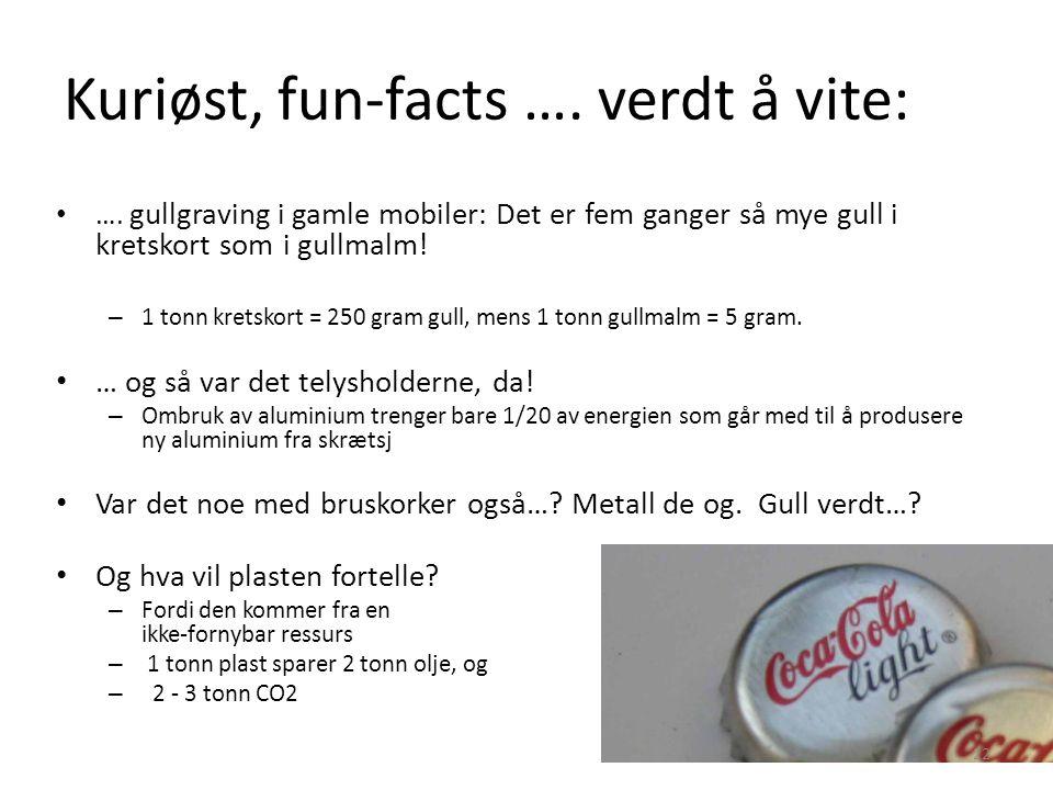 Kuriøst, fun-facts …. verdt å vite: