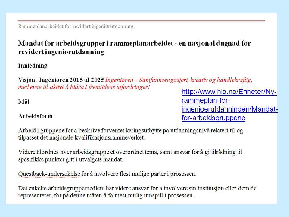http://www.hio.no/Enheter/Ny-rammeplan-for-ingenioerutdanningen/Mandat-for-arbeidsgruppene