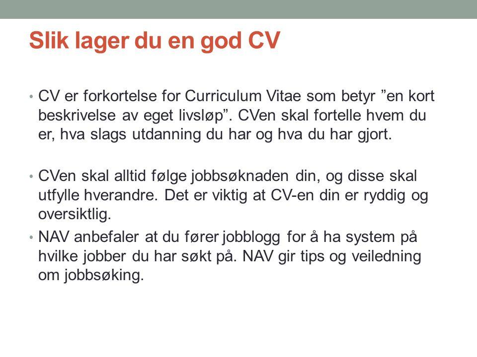 Slik lager du en god CV