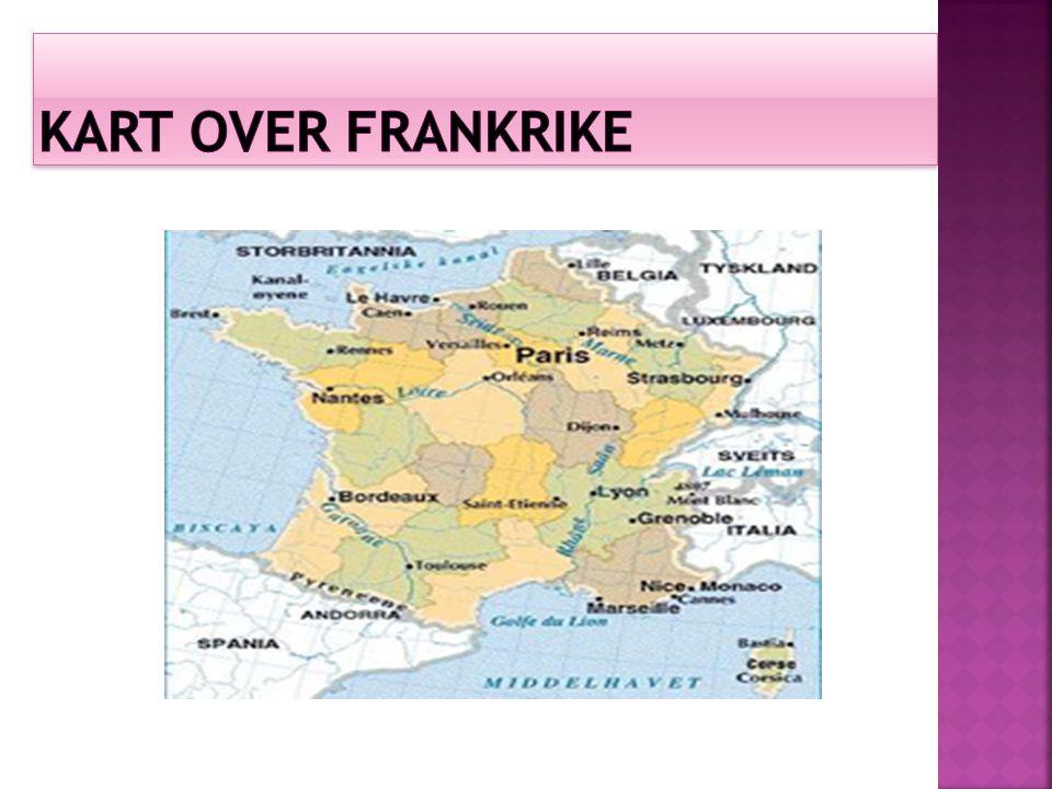 Kart over frankrike