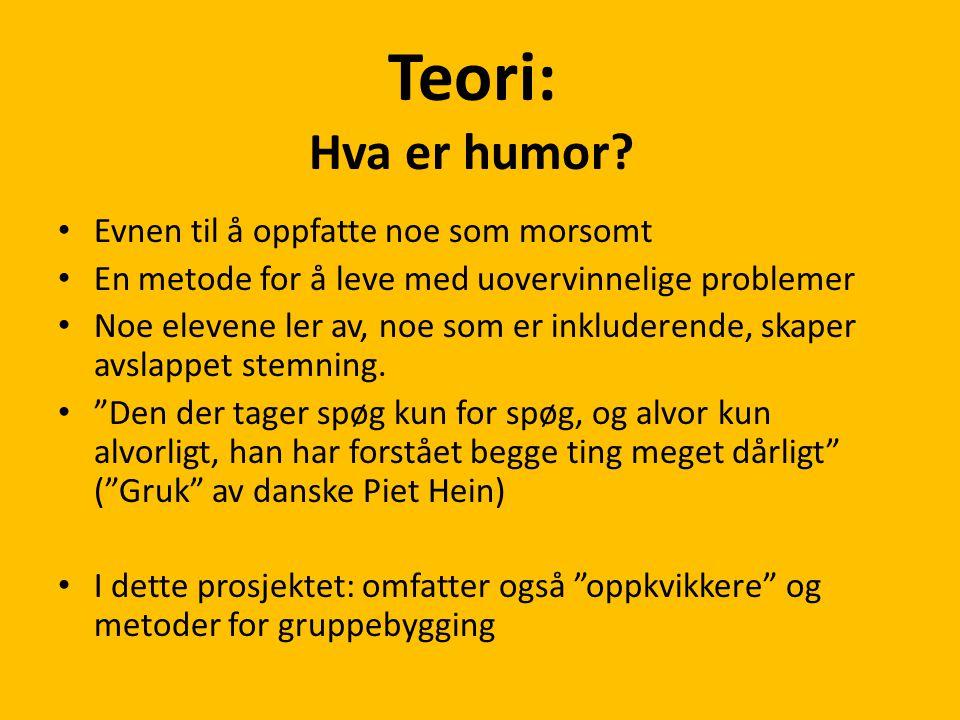 Teori: Hva er humor Evnen til å oppfatte noe som morsomt