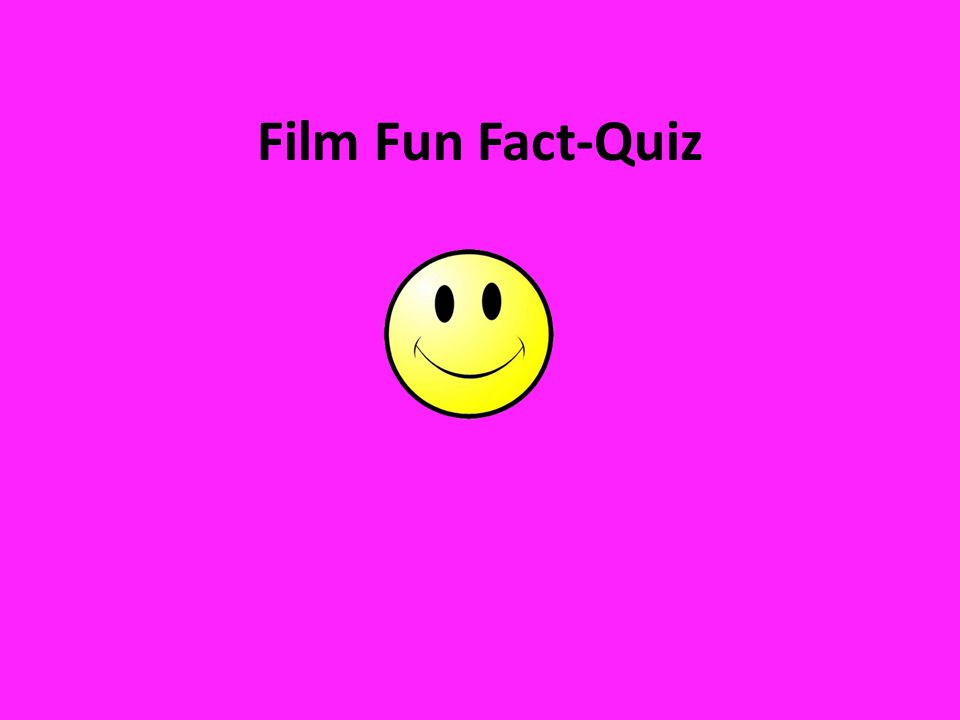 Film Fun Fact-Quiz Husk kort applaus til vinnaren!