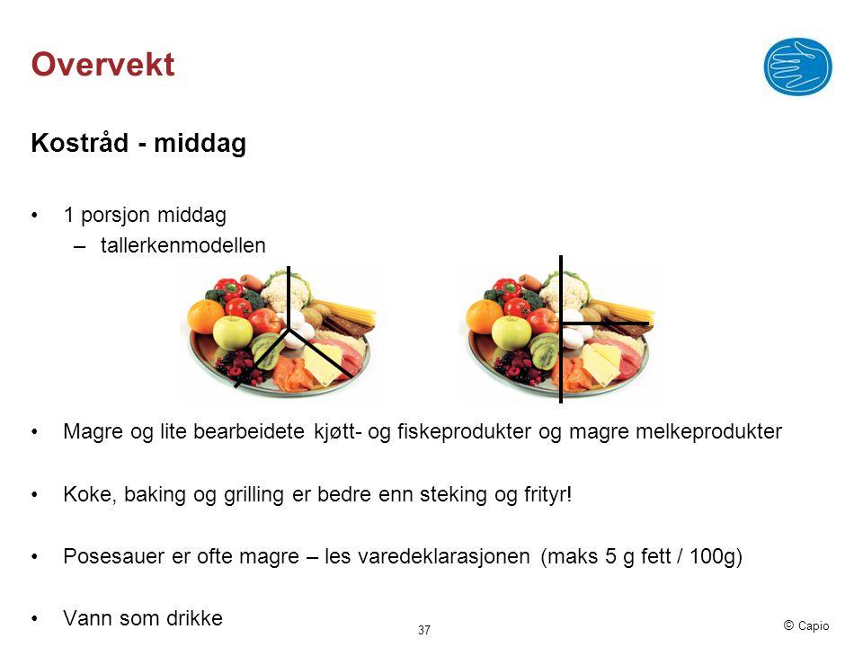 Overvekt Kostråd - middag 1 porsjon middag tallerkenmodellen