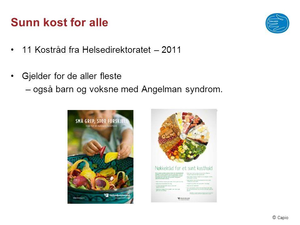 Sunn kost for alle 11 Kostråd fra Helsedirektoratet – 2011