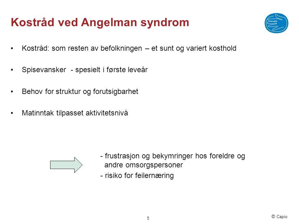 Kostråd ved Angelman syndrom