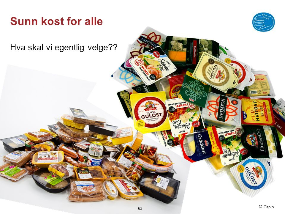 Sunn kost for alle Hva skal vi egentlig velge