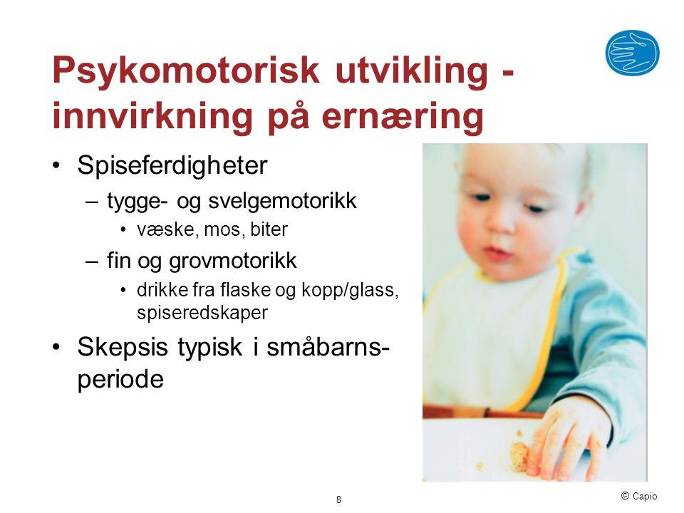 Psykomotorisk utvikling -innvirkning på ernæring