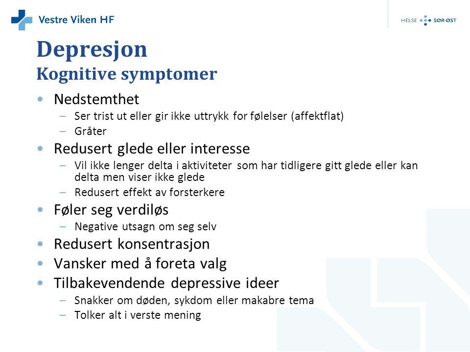 Depresjon Kognitive symptomer