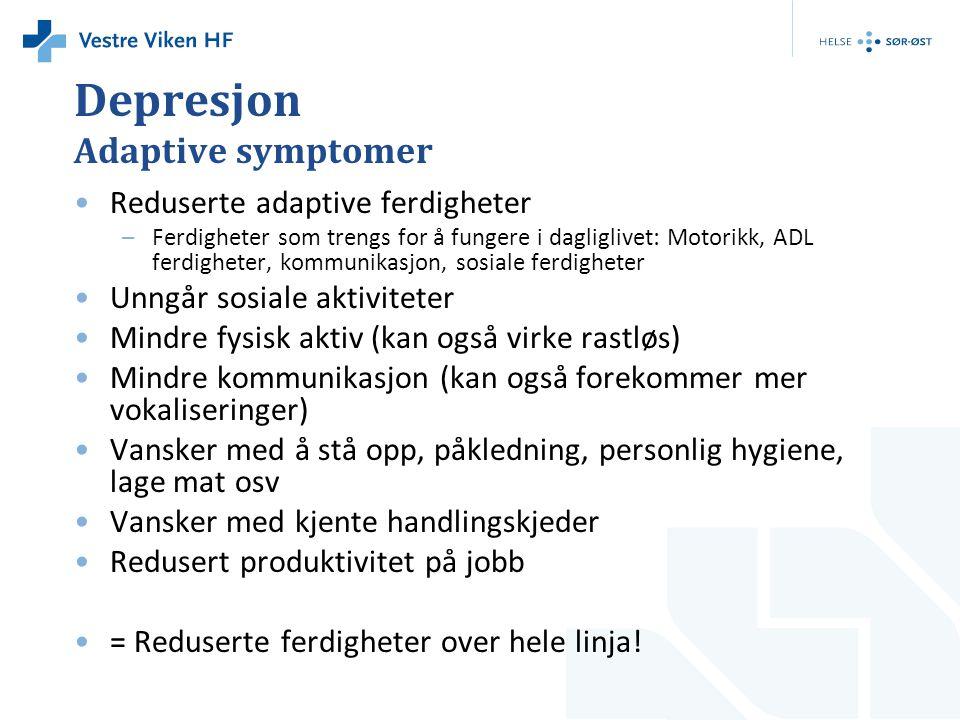 Depresjon Adaptive symptomer