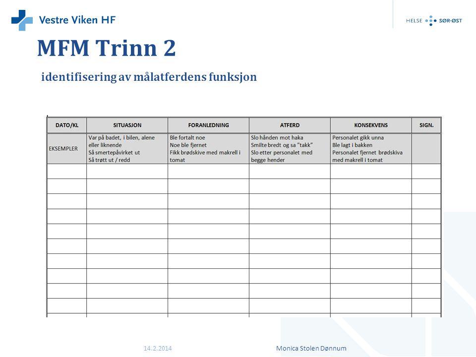 MFM Trinn 2 identifisering av målatferdens funksjon