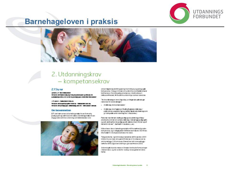 Barnehageloven i praksis