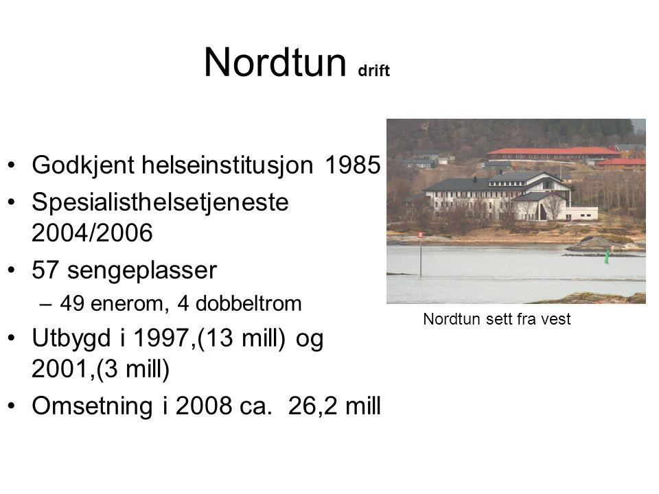 Nordtun drift Godkjent helseinstitusjon 1985