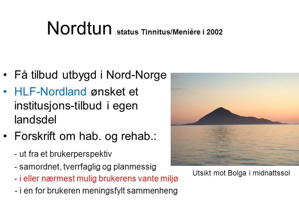 Nordtun status Tinnitus/Meniére i 2002
