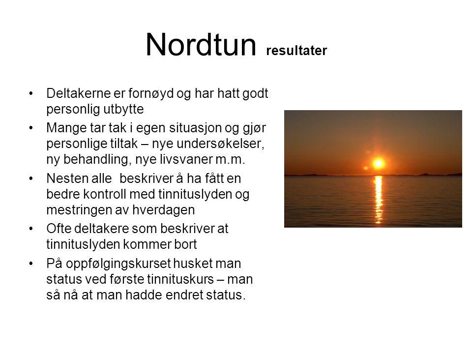 Nordtun resultater Deltakerne er fornøyd og har hatt godt personlig utbytte.