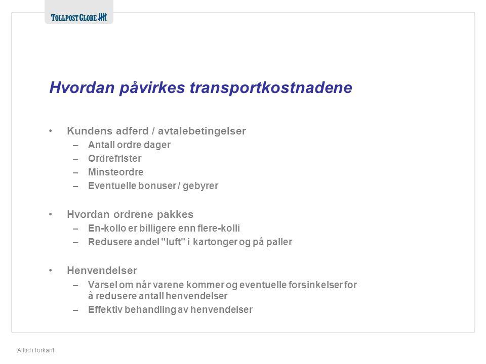Hvordan påvirkes transportkostnadene