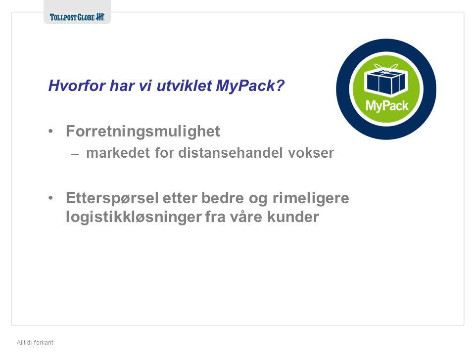 Hvorfor har vi utviklet MyPack
