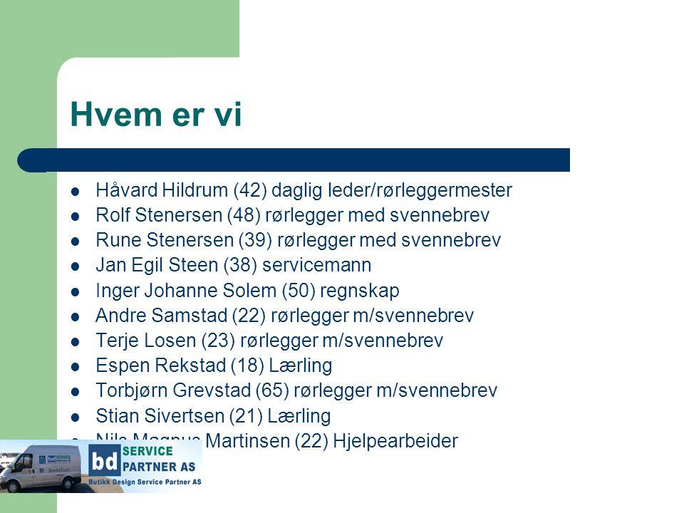 Hvem er vi Håvard Hildrum (42) daglig leder/rørleggermester