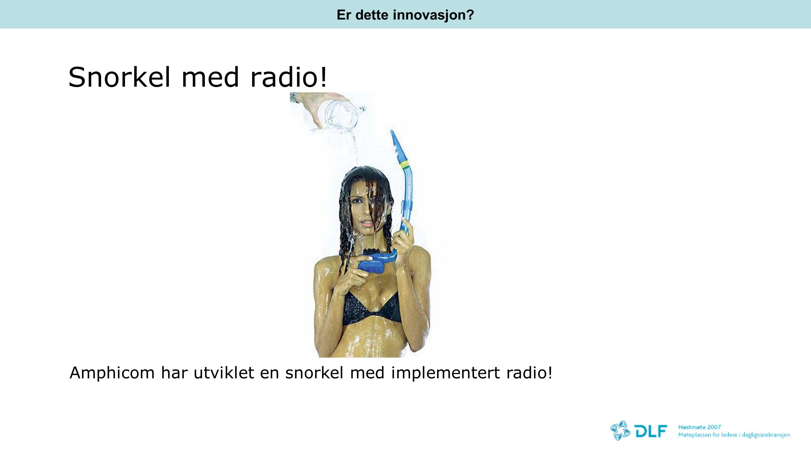 Er dette innovasjon Snorkel med radio! Amphicom har utviklet en snorkel med implementert radio!
