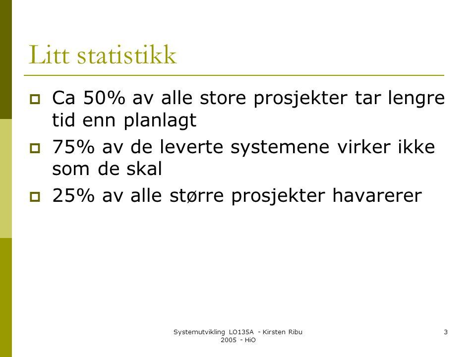 Systemutvikling LO135A - Kirsten Ribu 2005 - HiO