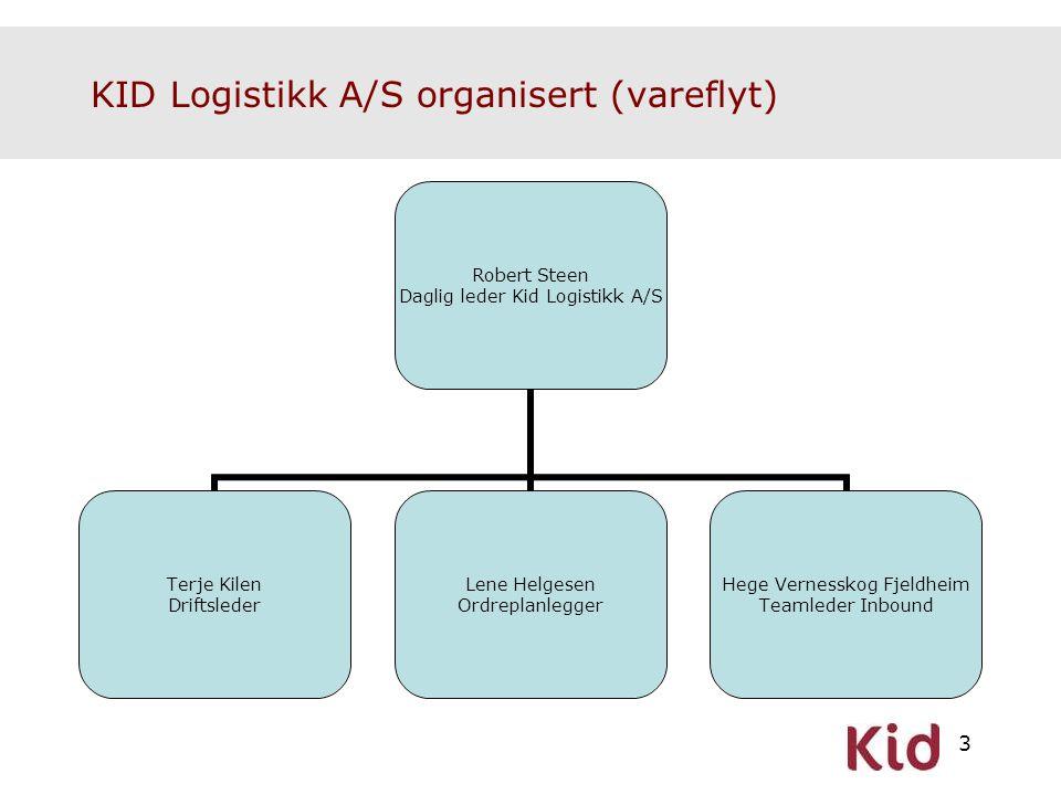 KID Logistikk A/S organisert (vareflyt)
