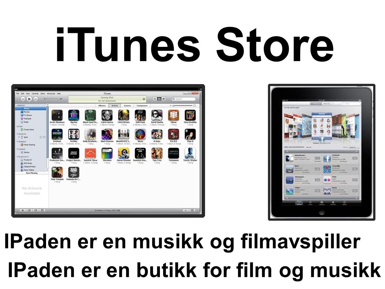 iTunes Store IPaden er en musikk og filmavspiller