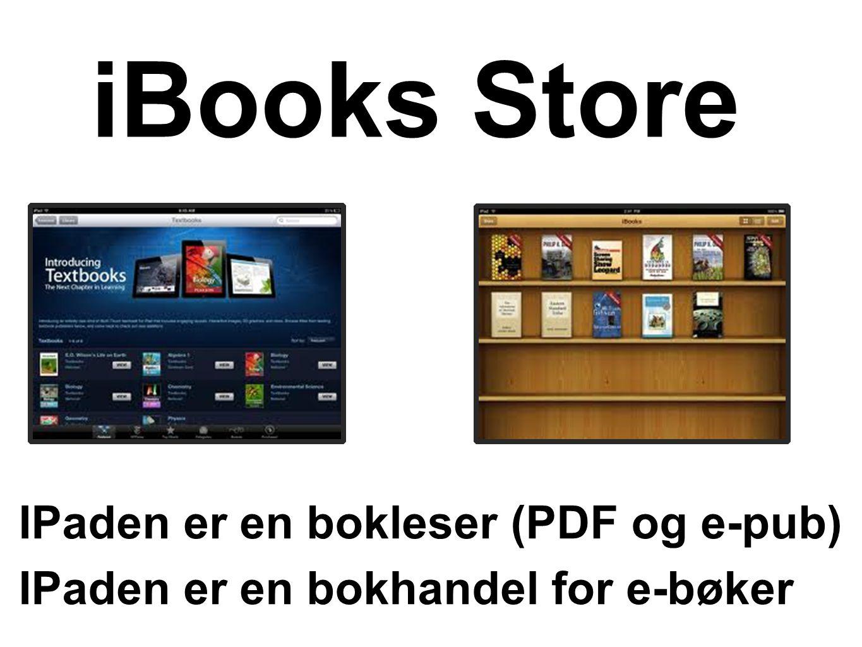 iBooks Store IPaden er en bokleser (PDF og e-pub)