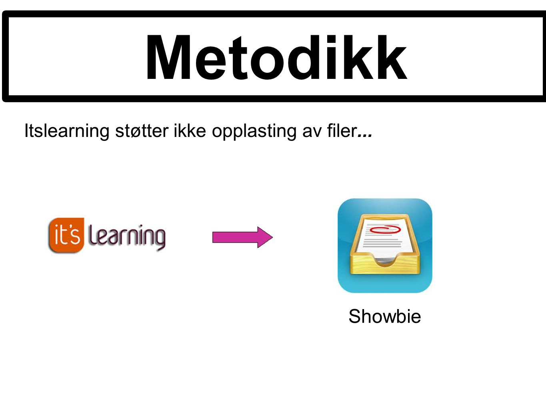 Metodikk Itslearning støtter ikke opplasting av filer... Showbie
