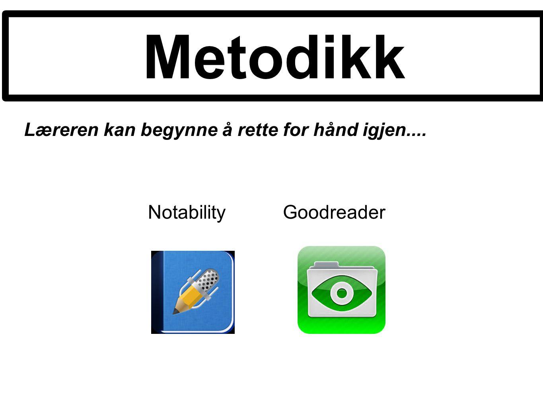 Metodikk Notability Goodreader