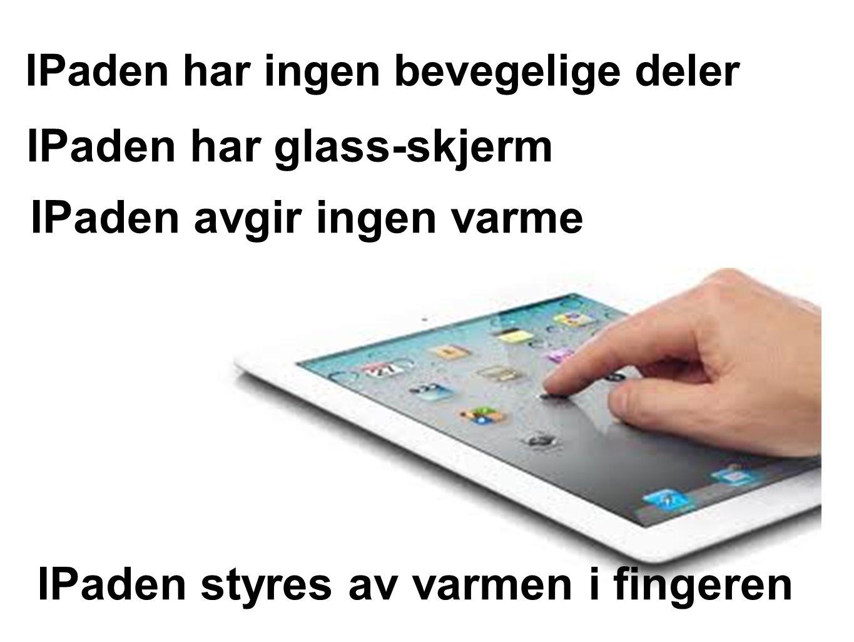 IPaden har glass-skjerm
